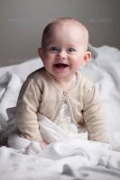 Cute Baby Girl Smiling by Ondrejvasak