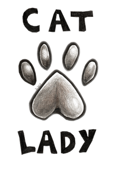 Cat Lady by JcArtSpace
