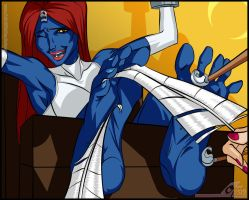 Mystique Tickled - X-Men by MichaelScottCannon