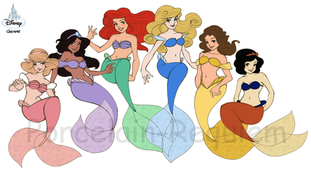 +Disney Mermaids+ by Porcelain-Requiem