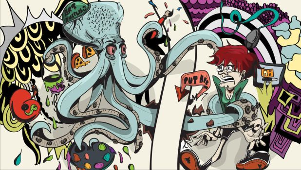 The Artist Octopus and Me by parkminhae