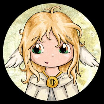 Zodiac Chibi of the Day - Virgo by lordzasz