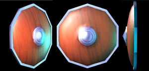Hand painted texture - 3D Shield by Pow-Pow