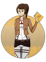 .: Attack on Titan: Art Trade Izumi :. by IgnisPectus