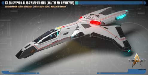 KD-56 Gryphon-class Warp Fighter by Auctor-Lucan