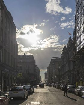 Downtown Glasgow street by sequential