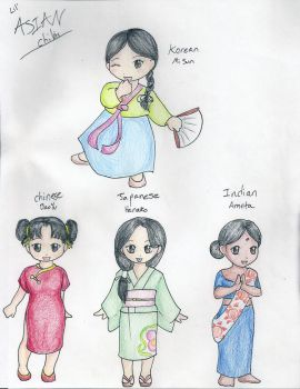 Asian Chibi Girls by animehotaru19