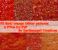 Red and Orange Glitter PS Patt by flawlessme06