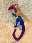 Multicolor Dark Rainbow Pipecleaner Dragon by IsellaHowler