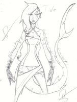 New OC - Concepting by Dreamer-Of-Ravens