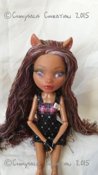 Clawdeen Wolf Monster High Doll OOAK Repaint by ChrysalisCreations