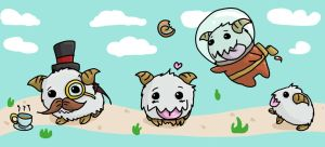 Poro party~ by pixelated-nightmare