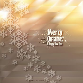 Merry Christmas Snowflake Background Free Vector by 123freevectors