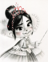 Vanellope - Hey... um... care to dance? by artistsncoffeeshops