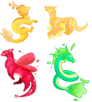 [A] Tea Dragons (CS Concept-- STILL OPEN AUCTION) by Mama-Seal