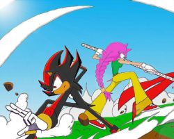 :Colab: with Me and my Hero by Mery-the-Hedgehog