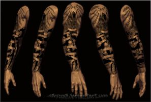 Full sleeve tattoo 14 by shepush