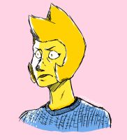Angry Yellow Diamond In A Sweater by LittleSnaketail