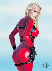 red catsuit hottie Charlize by glinstr
