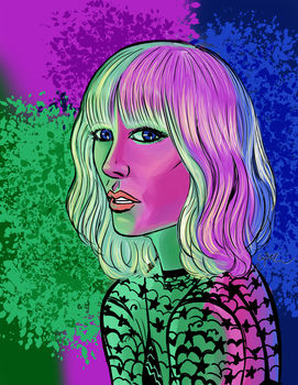 Atomic Blonde in Neon by Robsojourn