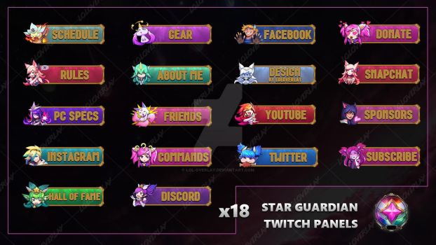 Star Guardian - Twitch Panels by lol0verlay