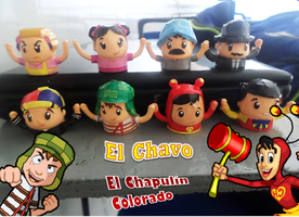 El Chavo and Chapulin Colorado finger puppets by Jarquin10