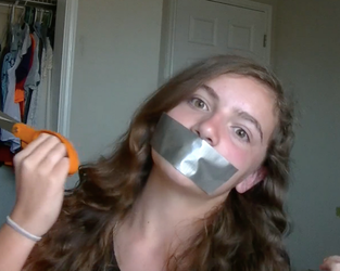 Youtuber girl duct tape gagged by TAMACOON23
