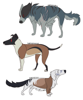 [CLOSED ADOPTABLES] - Palette Dogs by NorthernUrsus