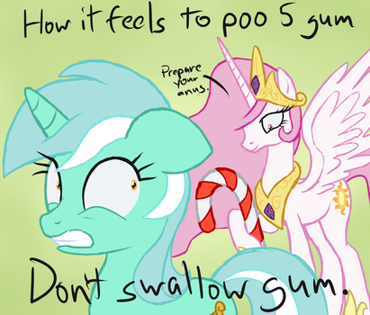 How It Feels To Poo 5 Gum by Arrkhal
