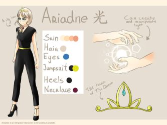 Ariadne reference sheet by Krucodia