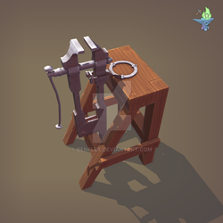 Blacksmith Post Vice low poly model by BenFlex