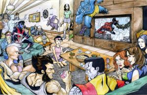 X-men day off commission by mdavidct