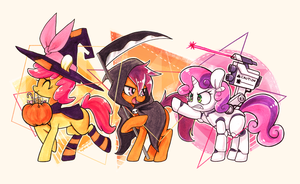 Trick-or-Treat Crusaders by Jopiter