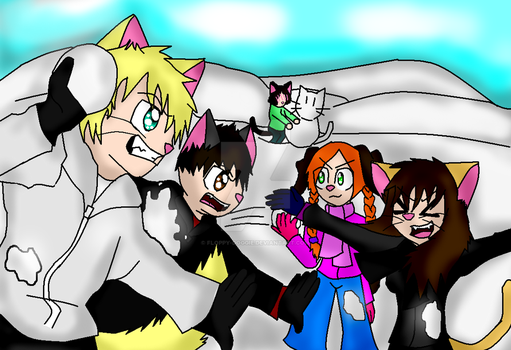 SnowBall Fight -Coloured- by Floppy-Doggie