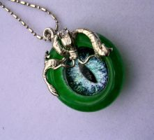 Custom Jade Dragon with Eye for Lady Winter by LadyPirotessa