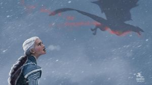Death of Viserion by nenadsarac
