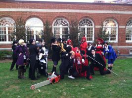 Black Butler Full Cast Pose 2 by SailorDerp
