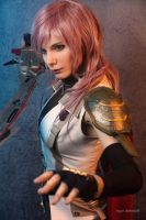 Lightning from Final Fantasy XIII by nlare