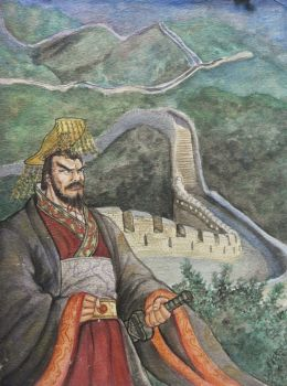 Emperor Qin and The Great Wall by VinceArt