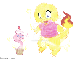 A Shiny Charmander and Cupcake Demon Appeared! by KamanderKato