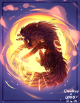 Sun Wolf (Collab!) by Anoixi
