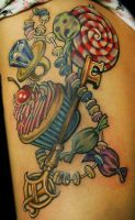 Candy Key Tattoo by Phedre1985