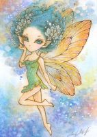 Lulu, the Blue Haired Pixie by aruarian-dancer