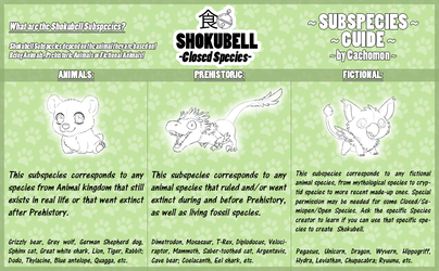 SHOKUBELL Subspecies [Species Guides 4] by Cachomon