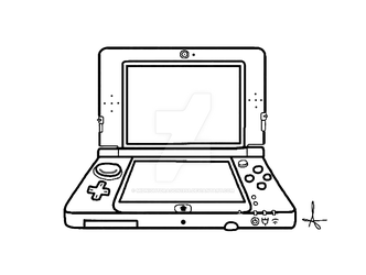 New Nintendo 3DS XL base by MidnightDragon1998