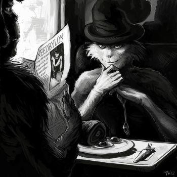 +dr Seuss+ On a train by Tench