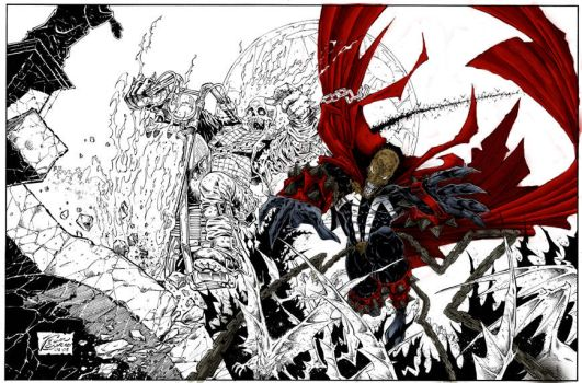 spawn with ghost rider by ultramegahyperbeam