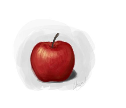 Speed Painting 1: Apple by akmal656
