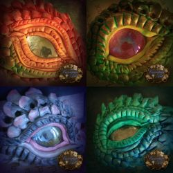 More clay dragon eyes by CassiopeiaArt