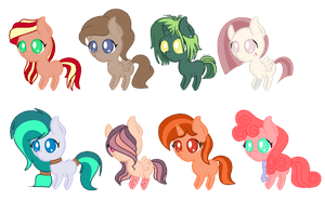 Pony Adoptables  -CLOSED- by SSSlyFox7